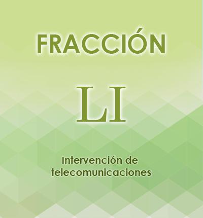 ART. 121- Fracción LI